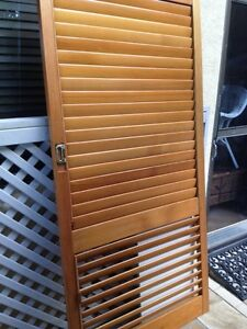 Indoor Plantation Shutter Doors with pelmet and top rail Smithfield Cairns City Preview