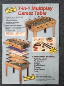 Games table 71 cm high includes table football