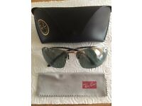 Ray-Ban male silver sunglasses (with polarised lenses)