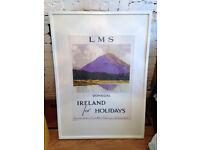 Framed Vintage Ireland Print