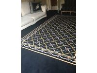 stunning black hand crafted carpet