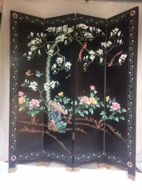 Chinese Screen - Four panel folding screen - Room divider.