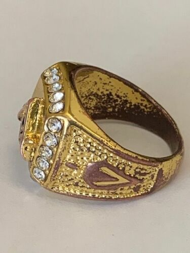 VINTAGE MASONIC LODGE RING - VERY NICE CONDITION - 20 STONES - PRICED TO SELL