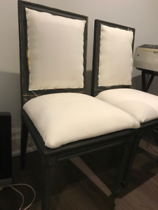 Restoration hardware style 4 Dining chairs