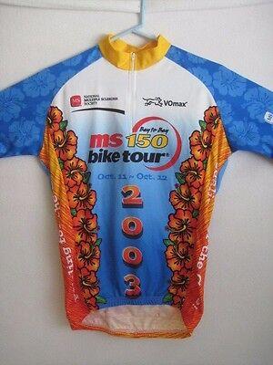08173e906 Men s S Cycling Jersey MS 150 Bay to Bay 2003 Island Hawaiian Floral Design