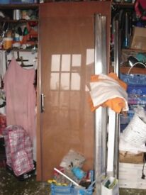 Premium brand shower screen as seen in front of door.