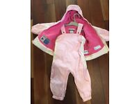Girls Columbia Pink Ski Suit Size 2T Used