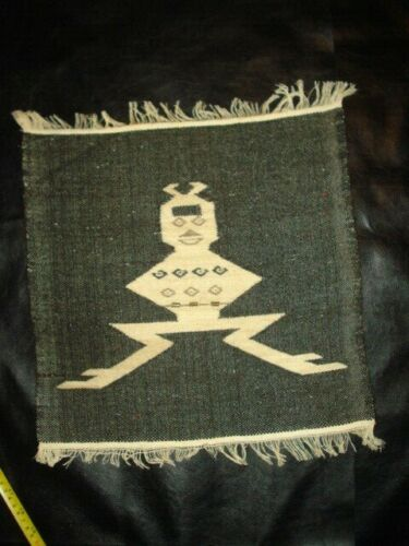 """Ecuador Vintage Wool Wall Hangings Tapestry 15""""x15""""  with metal accents"""