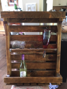 Wine Rack handcrafted from pallet wood