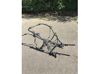 Selection of car bike carriers. Varied designs - all fit onto car boots.