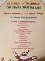 St. James United Church Christmas Crafters Sale