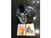 Phillips Juicer HR1861 and Jason Vale The Juice Master, 7lbs in 7 days, super juice diet book