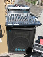 "Audio-Pro PA System - Yorkville 15"" Speakers plus"