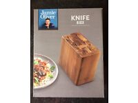 Jamie Oliver Empty Acacia Knife Block for up to 6 knives - New