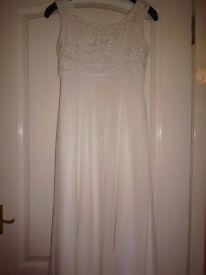 brides dress ivory