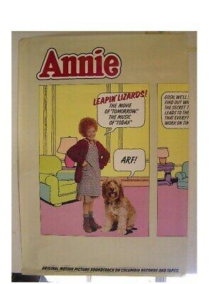 Annie Cartoon Poster Original Movie - Cartoon Annie