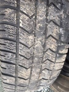 Four winter tires on rims