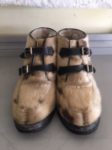Vintage Sealskin Winter Boots Men's 10