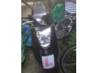 Yamaha City 125cc Moped. Can drive on CBT.