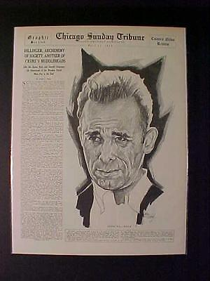 VINTAGE NEWSPAPER HEADLINE ~GANGSTER KILLER JOHN DILLINGER DEAD GUN SHOT DIES~