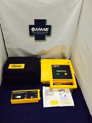 Physiocontrol Lifepak 500 Patient Ready With New Battery Pads