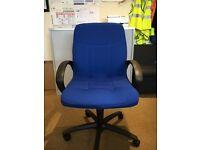 Air Support High Back Operator Chair with Arms in Blue