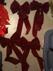 Christmas Bows - Burgundy Color