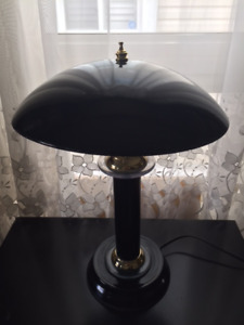 Black Glass Shade Table Lamp