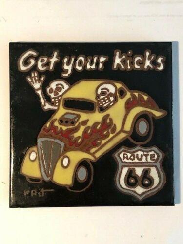 Get Your Kicks Route 66 Vintage Decorative Tile 1999