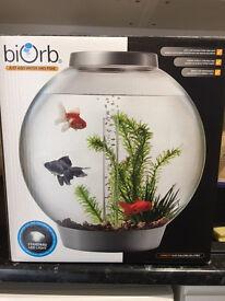 Biorb Classic Aquarium 30 Litre, Silver