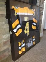 Framed Bobby Orr Jersey and Picture