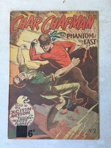 Char Chapman Phantom of the East #2 1951 Australian Golden Age Crime Comic RARE