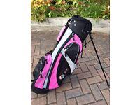 Pro-tekt (Slim Jim) Golf Stand Bag - Black/Pink
