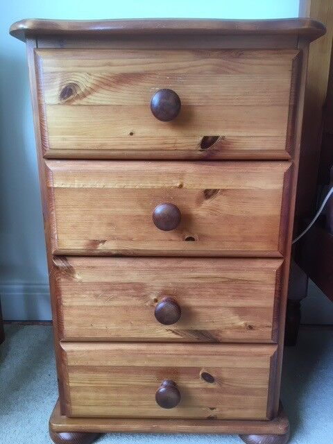 Antique pine bedside cabinet with drawers - Antique Pine Bedside Cabinet With Drawers In Newcastle-under-Lyme