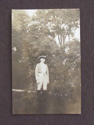 MAN IN AMERICAN REVOLUTIONARY WAR COSTUME Vintage 1930 PHOTO (Revolutionary War Costumes For Men)