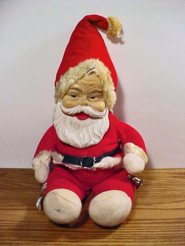 "Vintage 60'S ""PLUSH RUBBER FACE SANTA CLAUS"" by RUSHTON COMPANY STAR CREATIONS"