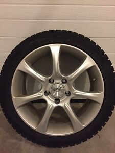 Winter tires on rims - low mileage