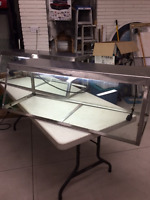 stainless steel show cases
