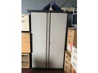 Large H 190cm Metal Unusal Pull Out & Slide In Door Office Filing Cupboard with 4 Adjustable Shelves