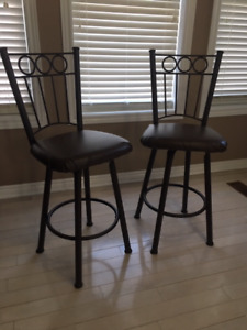 Brown iron bar stools