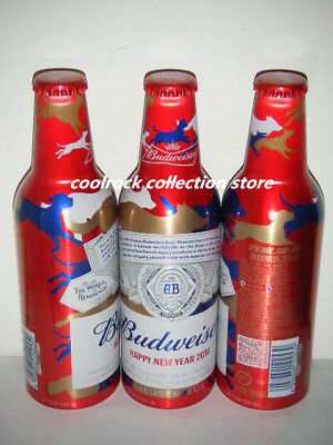 2018 China Budweiser beer new year of dog aluminium bottle 355ml empty