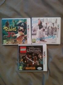 3D DSI games for sale x3