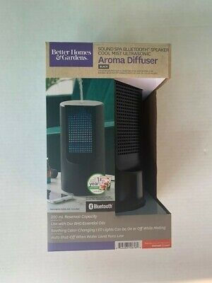 Better Homes & Gardens Ultrasonic Aroma Diffuser Sound Spa Bluetooth Speaker New