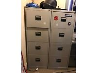 2 Four Deep Draw Filing Cabinets