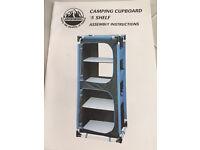 Camping Cupboard - 5 shelf - Adventuridge - never used!