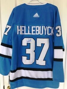 Winnipeg Jets Hellebuck Autographed New Jersey with Tags
