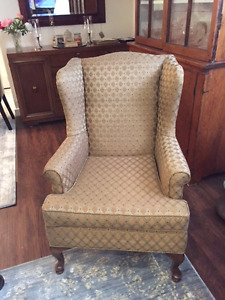 Wingback Chairs with Ottoman