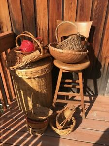 Decorative Basket Lot, All sizes, 14 Different Types