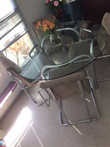Glass Dining Table and Set of 4 Chairs. - $200 (Yaletown)