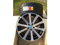 "For Sale : 4 x Brand New 20"" Alloy's plus 4 x Brand New Michelin Sport Tyres"